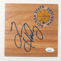 Tim Hardaway Signed Warriors 6x6 Floor Piece (JSA COA) at PristineAuction.com