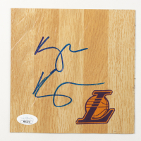 Kyle Kuzma Signed Lakers 6x6 Floor Piece (JSA COA) at PristineAuction.com