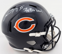 "Lance Briggs Signed Bears Full-Size Speed Helmet Inscribed ""7x Probowl"" (Beckett Hologram) at PristineAuction.com"