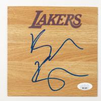 Kyle Kuzma Signed Lakers 6x6 Floor Piece (JSA COA) at PristineAuction.com