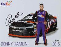 Denny Hamlin Signed NASCAR 8.5x11 Photo (Beckett COA) at PristineAuction.com