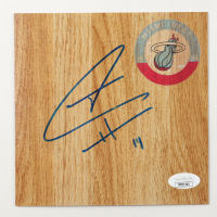 Tyler Herro Signed Heat 6x6 Floor Piece (JSA COA) at PristineAuction.com