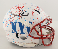 Daniel Jones Signed Full-Size Authentic On-Field Hydro-Dipped Vengeance Helmet (Beckett COA) (See Description) at PristineAuction.com