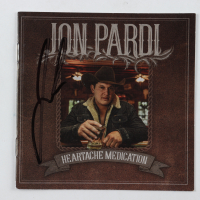 "Jon Pardi Signed ""Heartache Medication"" CD Cover Insert (JSA COA) at PristineAuction.com"