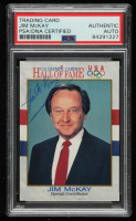 Jim McKay Signed 1991 Impel U.S. Olympic Hall of Fame #77 (PSA Encapsulated) at PristineAuction.com