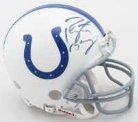 Peyton Manning Signed Colts Mini Helmet (Mounted Memories COA & Beckett COA) at PristineAuction.com