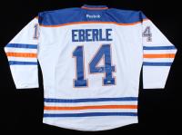 Jordan Eberle Signed Oilers Jersey (Beckett COA) at PristineAuction.com
