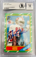 Jerry Rice Signed 1986 Topps #161 RC (BGS Encapsulated) at PristineAuction.com