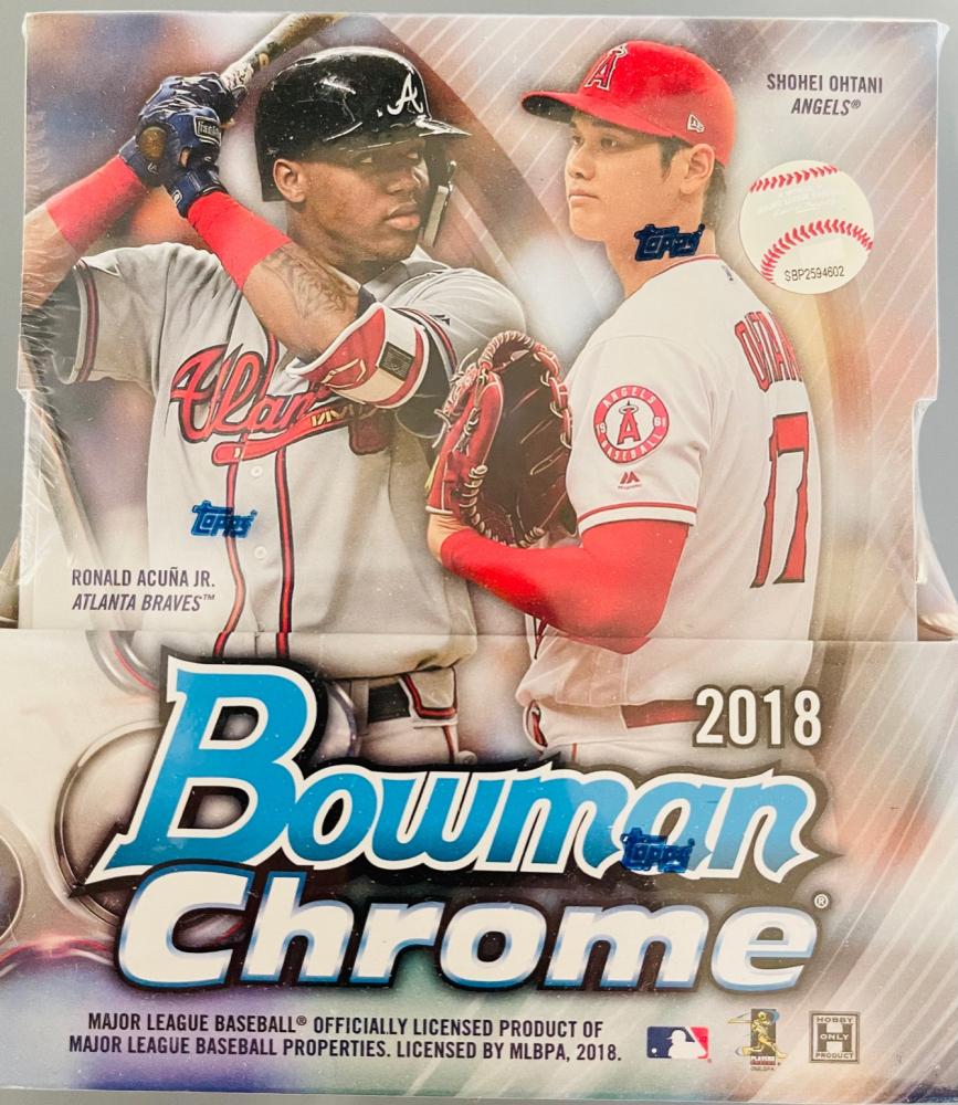 2018 Bowman Chrome Baseball Hobby Box of (12) Packs at PristineAuction.com