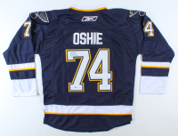 T. J. Oshie Signed Blues Jersey (Beckett COA) at PristineAuction.com