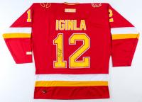 Jarome Iginla Signed Flames Jersey (Beckett COA) at PristineAuction.com