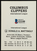 Don Mattingly Signed Columbus Clippers Trading Card (Beckett COA) at PristineAuction.com