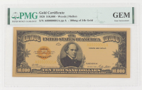1928 $10,000 Ten Thousand Dollars Commemorative Gold Certificate (PMG Gem Uncirculated) at PristineAuction.com