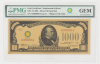 """1934 $1,000 One Thousand Dollars """"Smithsonian Edition"""" Gold Certificate (PMG Gem Uncirculated) at PristineAuction.com"""