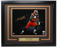 Nick Chubb Signed Browns 11x14 Custom Framed Photo Display (JSA COA) at PristineAuction.com