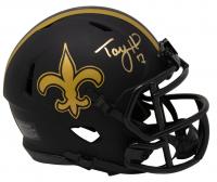 Taysom Hill Signed Saints Eclipse Alternate Speed Mini Helmet (Fanatics Hologram) at PristineAuction.com