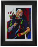 """George Carlin"" 18x24 Custom Framed Print Display at PristineAuction.com"