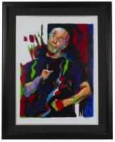 """George Carlin"" 18x24 Custom Framed Print Display at PristineAuction.com"