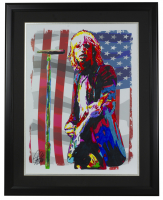 """Tom Petty"" 18x24 Custom Framed Print Display at PristineAuction.com"