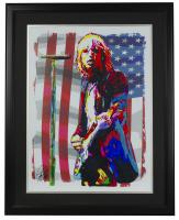 """Tom Petty"" 18x24 Custom Framed Print Display at PristineAuction.com"