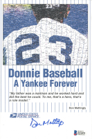 Don Mattingly Signed Yankees Postcard (Beckett COA) at PristineAuction.com