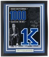 "Coach Mike Krzyewski Signed Duke Blue Devils 16x20 Custom Framed Photo Display Inscribed ""1000th Win"" & ""1-25-15"" (Fanatics Hologram & Steiner Hologram) at PristineAuction.com"