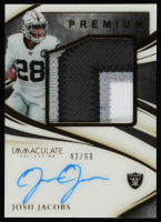 Josh Jacobs 2020 Immaculate Collection Premium Patch Autographs #15 at PristineAuction.com