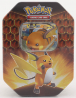 Pokemon TCG: Hidden Fates Tin - Raichu Factory Sealed at PristineAuction.com