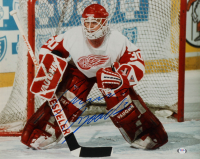 Chris Osgood Signed Red Wings 16x20 Photo (PSA COA) at PristineAuction.com