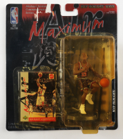 LE 1999 Michael Jordan Bulls Hoop Highlights Series Action Figure With Upper Deck Card (See Description) at PristineAuction.com