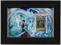 Blue-Eyes White Dragon 2005 LE #FL1-EN001 14.5x17.5 Framed Yu-Gi-Oh! Card Display (PSA 6) at PristineAuction.com