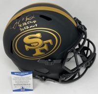 "Joe Montana Signed 49ers Full-Size Eclipse Alternate Speed Helmet Inscribed ""4x SB Champ"" & ""3x SB MVP"" (Beckett COA) at PristineAuction.com"