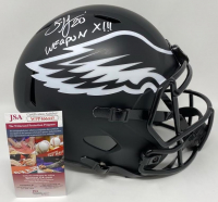 "Brian Dawkins Signed Eagles Full-Size Eclipse Alternate Speed Helmet Inscribed ""Weapon X!!!"" (JSA COA) at PristineAuction.com"