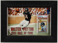 Walter Payton Signed 14.5x17.5 Custom Framed 1979 Topps #480 AP Display (PSA Encapsulated) at PristineAuction.com
