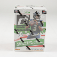 2020 Panini Donruss Football Holiday Blaster Box with (11) Packs (See Description) at PristineAuction.com