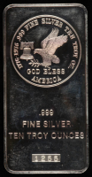 10 Troy Oz .999 Fine Silver American Eagle Bullion Bar at PristineAuction.com