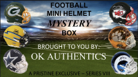 OKAUTHENTICS Football Mini Helmet Mystery Box Series VIII at PristineAuction.com