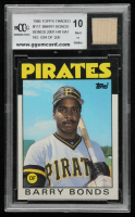 Barry Bonds 1986 Topps Traded #11T XRC with Game-Used Bat (BCCG 10) at PristineAuction.com