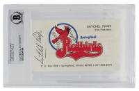 Satchel Page Signed Springfield Redbirds Business Card (BGS Encapsulated) at PristineAuction.com