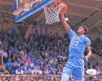 Cameron Johnson Signed North Carolina Tar Heels 8x10 Photo (JSA COA) at PristineAuction.com