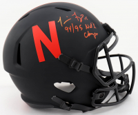 "Tommie Frazier Signed Nebraska Cornhuskers Full-Size Eclipse Alternate Speed Helmet Inscribed ""94/95 Nat'l Champs"" (Beckett COA) at PristineAuction.com"