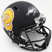 Adrian Peterson Signed Redskins Full-Size Custom Matte Black Speed Helmet (Beckett COA) at PristineAuction.com
