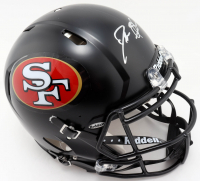 Deion Sanders Signed 49ers Full-Size Authentic On-Field Matte Black Speed Helmet (Beckett COA) at PristineAuction.com