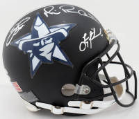 "Troy Aikman, Emmitt Smith & Michael Irvin ""The Triplets"" Signed Cowboys Full-Size Authentic On-Field Matte Black Helmet (JSA COA) at PristineAuction.com"