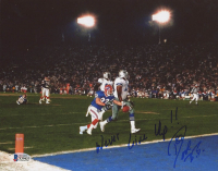 "Don Beebe Signed Bills 8x10 Photo Inscribed ""Never Give Up!!"" (Beckett COA) at PristineAuction.com"