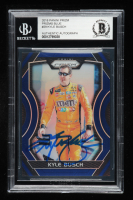 Kyle Busch Signed 2018 Panini Prizm Blue #29 - #65/99 (Beckett Encapsulated) at PristineAuction.com