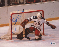 Jim Craig Signed Team USA 8x10 Photo (Beckett COA) at PristineAuction.com