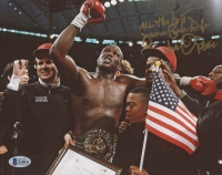"Buster Douglas Signed 8x10 Photo Inscribed ""All The Best"" & ""Love, Peace"" (Beckett COA) at PristineAuction.com"