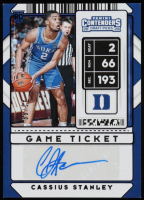 Cassius Stanley 2020-21 Panini Contenders Draft Picks Game Ticket Blue Autographs #99 RC at PristineAuction.com