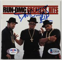 "DMC Signed ""Run-DMC Greatest Hits"" CD Cover Inscribed ""JMJ RIP"" (Beckett COA & PSA Hologram) at PristineAuction.com"